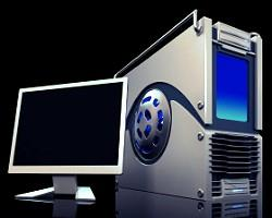 photo image of a modern desktop pc